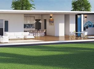 Luxury home digital 3d  rendering