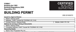 Building Permit issued