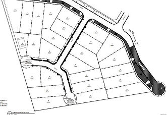 28 lot Subdivision Plan