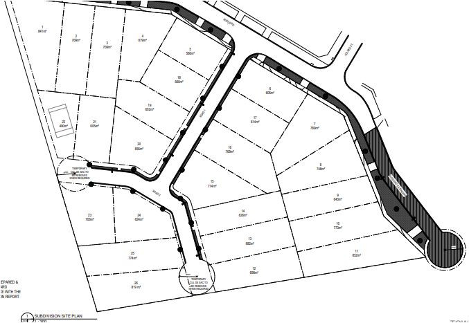 Subdivision of a large block in Melbourne