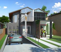 Duplex on 12m frontage site