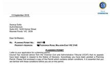 Stonnington Planning permit for dual occ