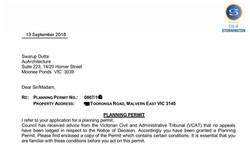 Stonnington Council planning permit
