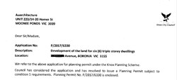 Knox Council planning permit