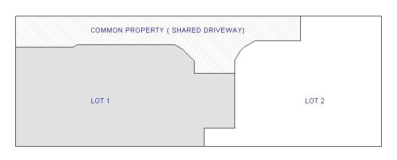 2 lot strata subdivision