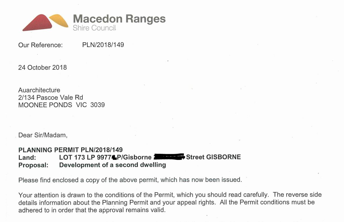 Macedon Ranges Planning permit