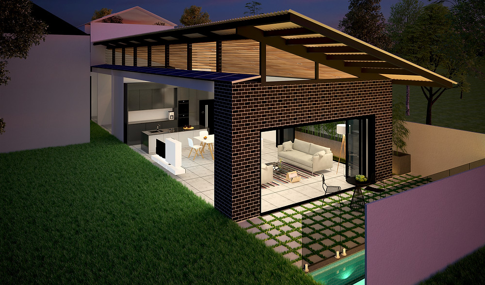 House designed for wellness and living in self isolation.