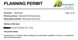Maroondah council planning approval