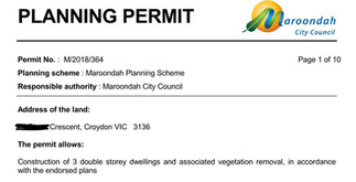 Moroondah Council approval for 3 units