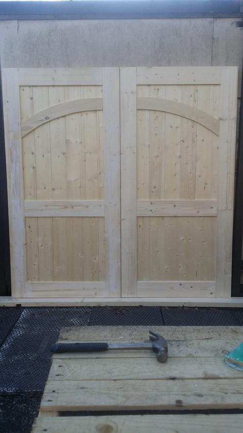Arch Timber Frame Garage Doors 7ft High X 7 Ft Wide