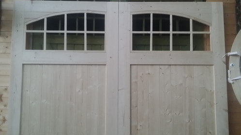 Arch Glass Timber Frame Garage Doors 7 Ft High X 7 Ft Wide 2130 X