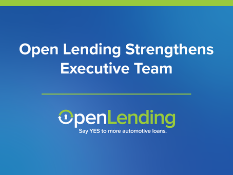 Open Lending Strengthens Executive Team