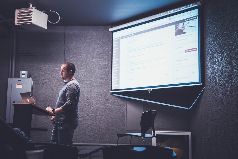 Sales presentation through PowerPoint