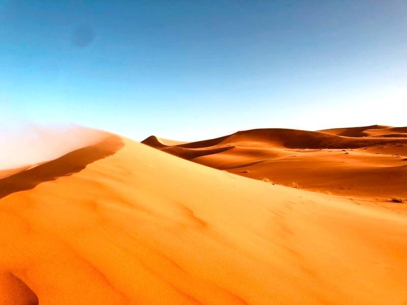 Erg Chebbi Dunes in Morocco Sahara desert