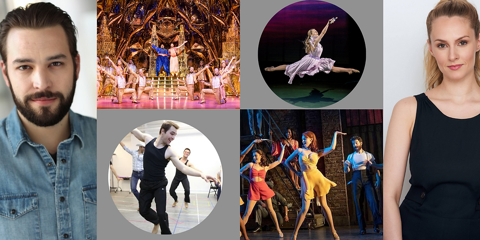 """""""Dancing with a Broadway Pro 2"""" Workshop: Twice the Pros. Twice the Dance.  Twice the Fun."""