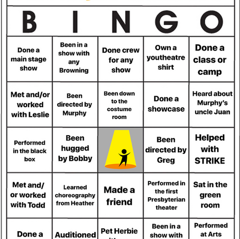 Youtheatre Bingo - Week 7