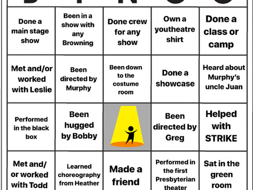 Youtheatre Bingo - Week 7