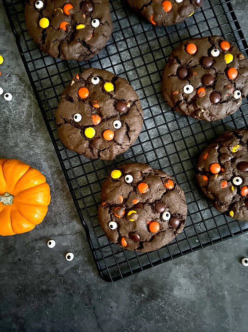 Dark As Night Spooky Reese's Cookies