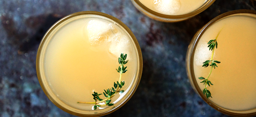 Pear Nectar and Thyme Cocktail