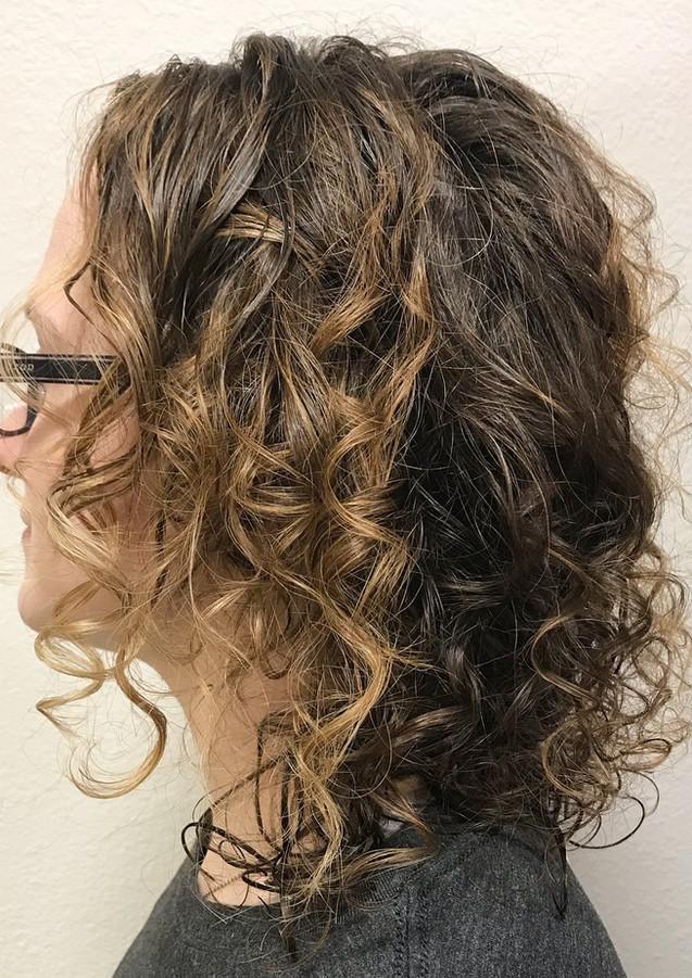 Curly balayage