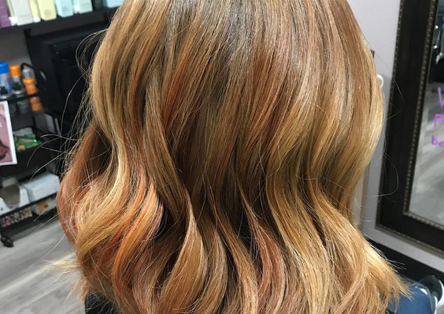 bronze and blonde highlights