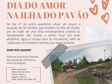 Amor em forma de doação no dia 27 de junho!