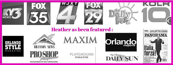Heather as been featured in or seen on _