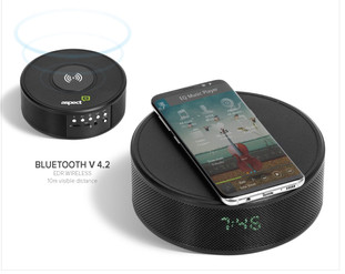 Prime Wireless Charger, Bluetooth Speaker and Clock Radio