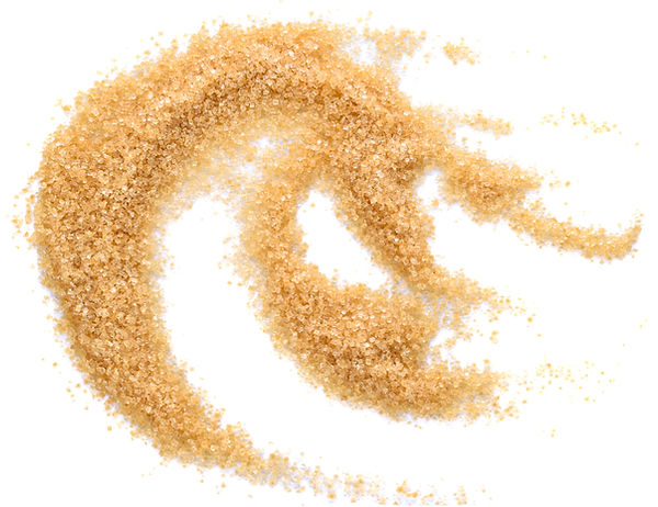 pile of brown sugar isolated on white ba