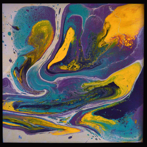 """Child's Laughter  24""""x24"""""""