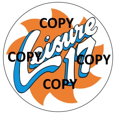 Leisure 17 Sticker 10x10cm