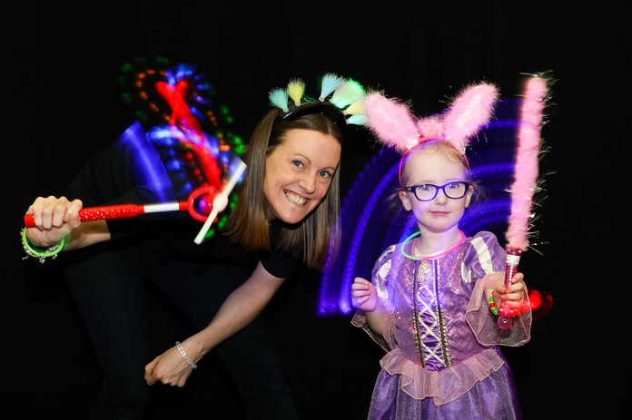 Light up photo booth hire