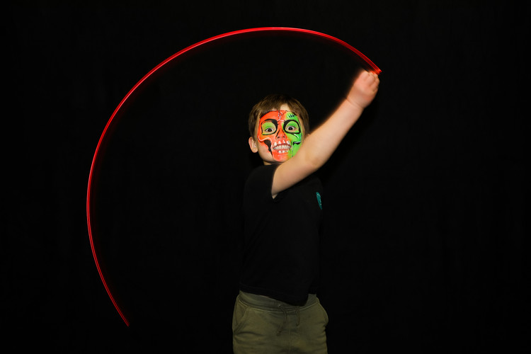Light trail photo booth hire