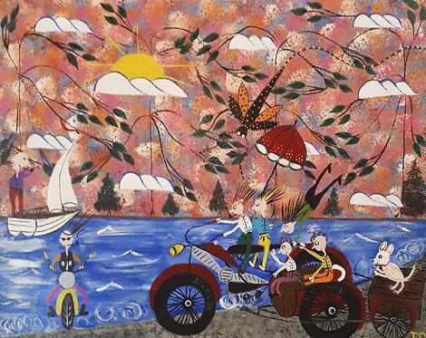 Family Going On A Big Bike Trip