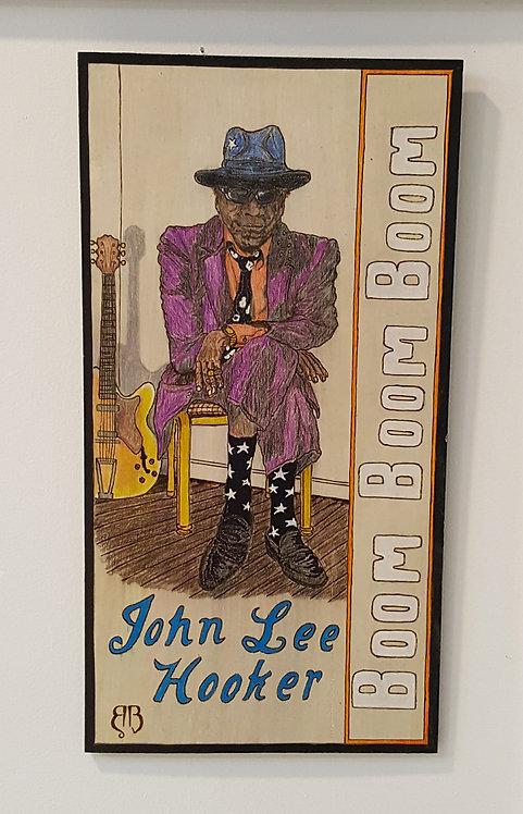 John Lee Hooker Woodburning