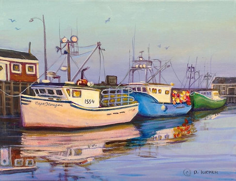 Lobster Boats at Dusk, Port Maitland