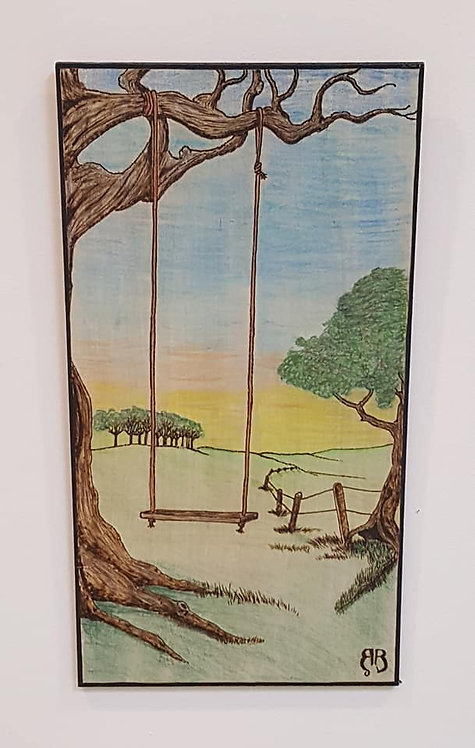The Pasture Swing Woodburning