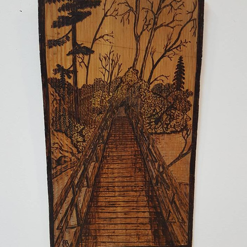 Bridge To The Trees Woodburning 14