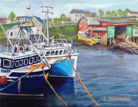 Lobster Boats, Cape St. Mary's 2