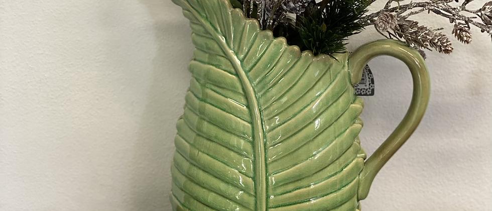 Mísa a džbán ve tvaru listu