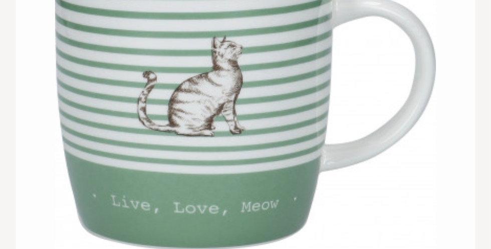 Porcelánový hrnek kočka