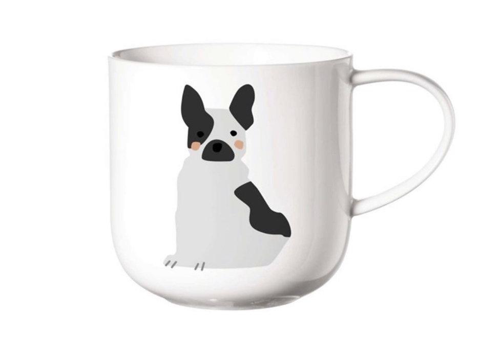 Porcelánový hrnek s motivem psa