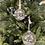 Thumbnail: Ozdoba skleněná koule uvnitř flitry