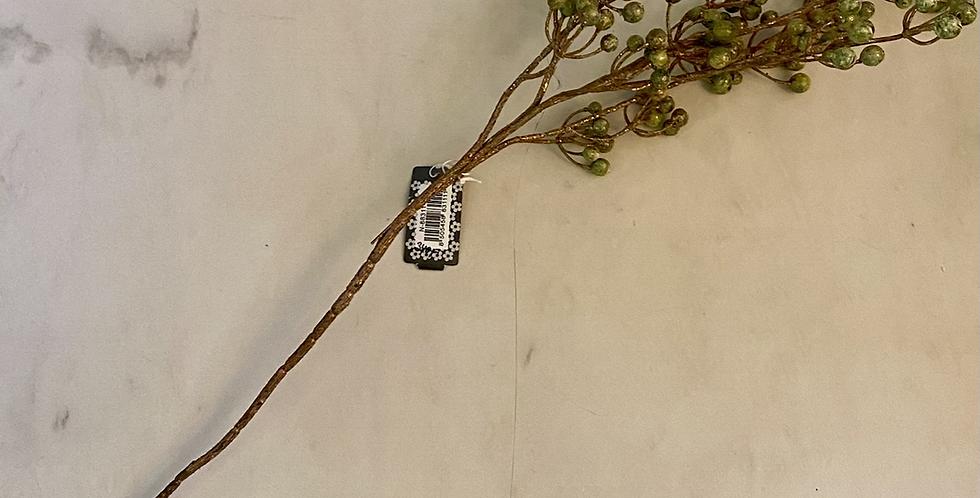 Větvička bobulí zelenozlatá