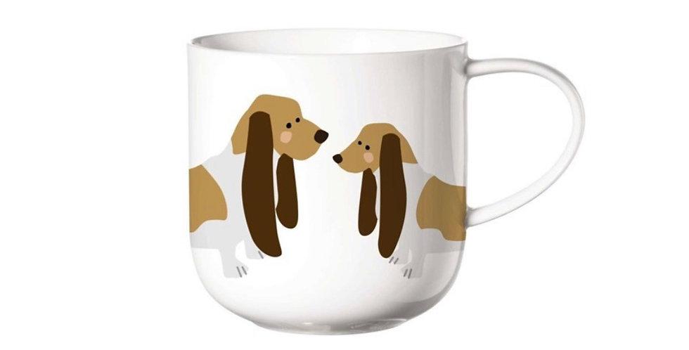 Porcelánový hrnek s motivem psů