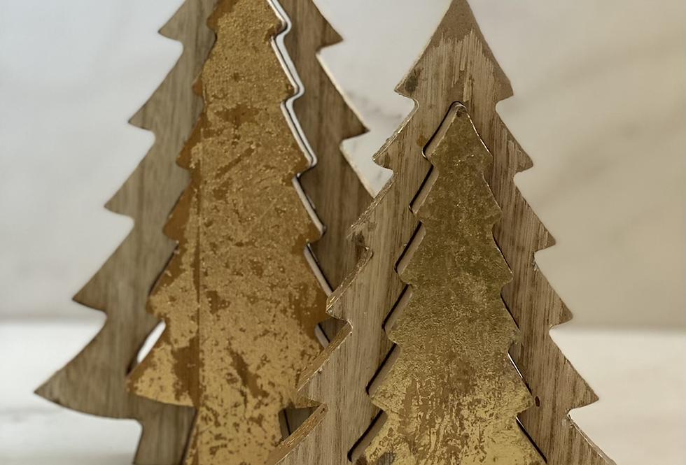 Dřevěný stromeček dvoudílný