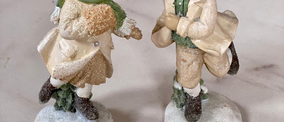 Vánoční figurka - bruslař