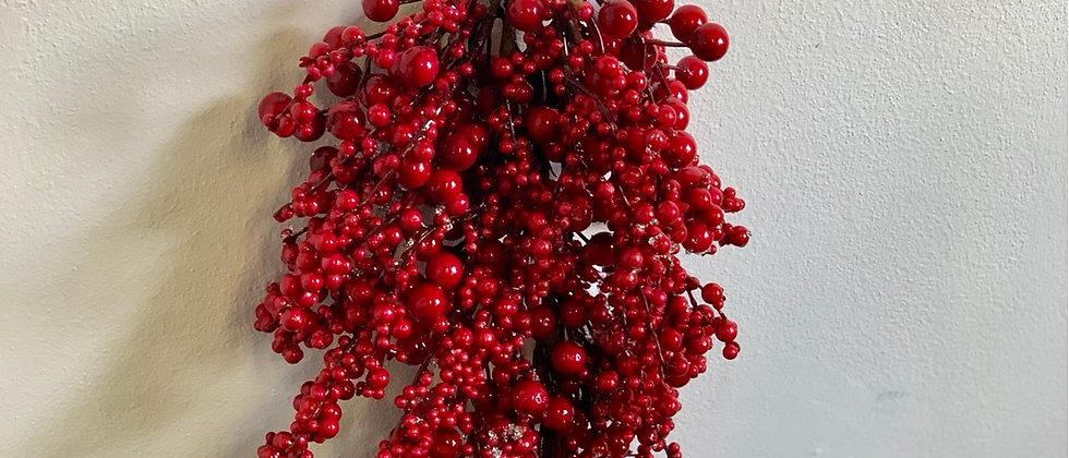 Větvička s červenými bobulemi