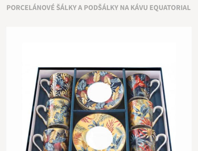 Porcelánová souprava na espresso