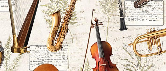 Ubrousky s hudebními nástroji